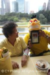 Auntie PAB with another cartonnist in his angry bird cap - so cute right?